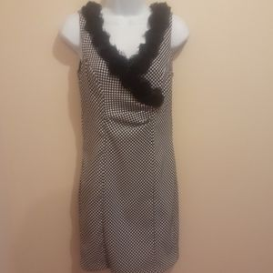 Connected Black & White Dress. Size 4P